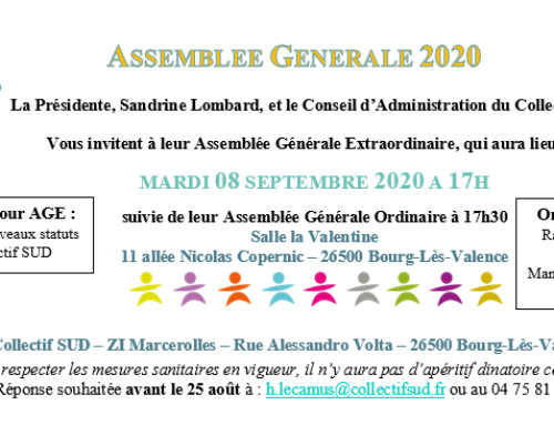 Invitation AG du Collectif SUD le 08/09/2020